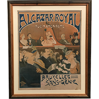 Advertising Poster for Bruxelles Sans Gene at Alcazar Royal, Brussels, 1894 by Duyck
