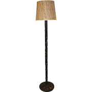 Mid Century Patinated Metalwork Floor Lamp