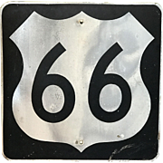 Texas US Highway Steel Sign Route 66 Sign or Marker