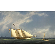 William R. Davis Marine Oil Painting, Heading Out