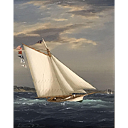 William R. Davis Marine Oil Painting - Catching a Breeze