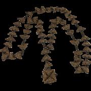 Rare 19th Century Italian Trapa Bicornis Seed Pod Rosary