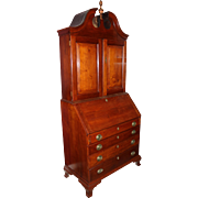 18th Century Connecticut River Valley Two-Part Cherry Chippendale Secretary
