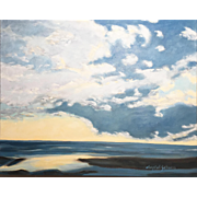 Daryl D. Johnson Luminous Oil Painting Landscape, Cloud Swept