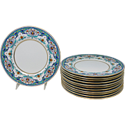 English Minton Porcelain Dinner Plate Service for 12
