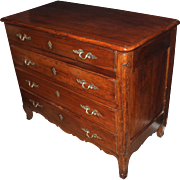 18th c French Provincial Fruitwood Commode