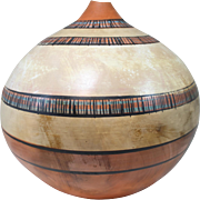 Large Polychrome Native American Pottery or Earthenware Pot