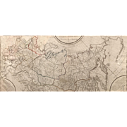 General Map of the Russian Empire Published in French, St. Petersburg Academy 1787