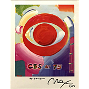 Peter Max Limited Edition CBS at 75 Signed Print for Chairman of CBS Television