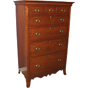 18th Century Pennsylvania Cherry Tall Chest with Great Proportions