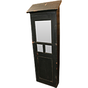 Early 20th c Painted Train Station Key Cabinet