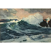 Stanley Woodward Marine Watercolor Coastal Seascape, Bermuda Swell