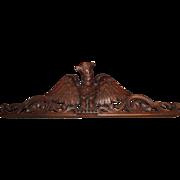 Vintage Hand Carved Wooden Eagle Pediment