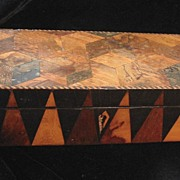Antique 19th C Century GEORGIAN English Tunbridgeware Marquetry Box MAGNIFICENT!