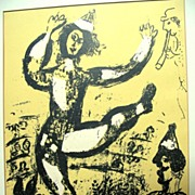 Marc CHAGALL 1960 Original Color Lithograph Print Le CIRQUE FABULOUS!
