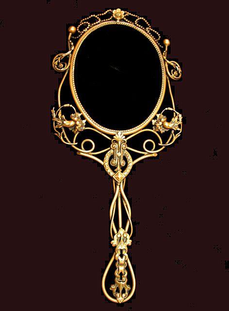 Ornate Hand Mirror Drawing Victorian Design Patterns Joy Studio