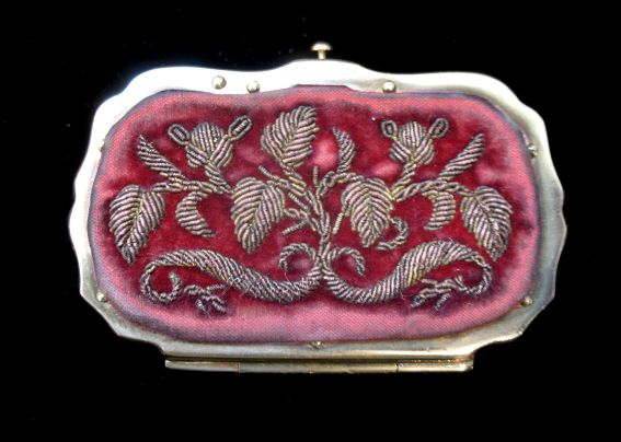 Antique 19th C Century French Napoleon III Embroidered/Metallic Embroidery LADY Coin Purse DIVINE!