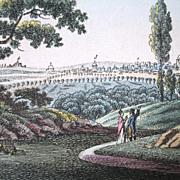 Antique Print Engraving PARIS 18th Century Bertuch TO DIE FOR