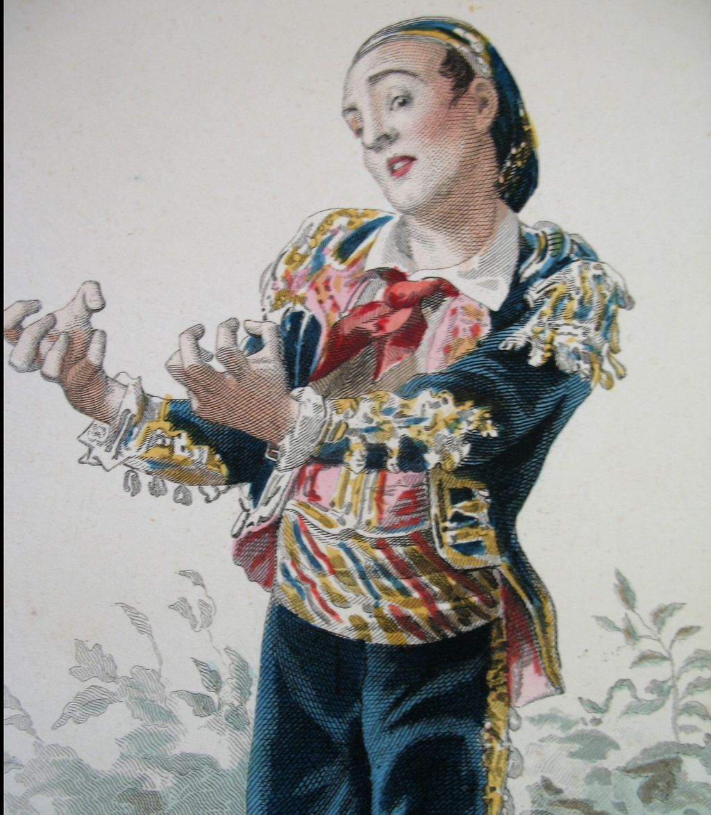 Antique French Print By Emile Bayard FAMOUS Artist Signed Superb Colors!