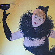 Antique Art NOUVEAU Print Lithograph Belgian Cabaret LADY Signed LISTED ARTIST!