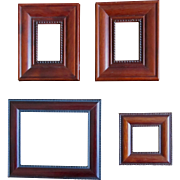 4 Vintage Miniature Wooden Frames SO CHARMING!
