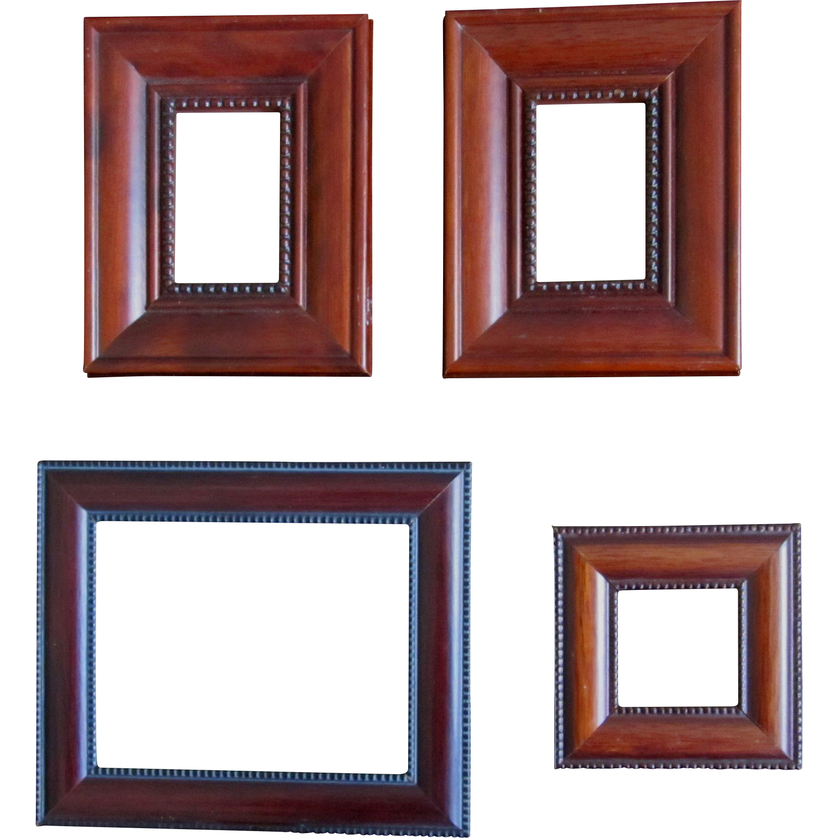 4 vintage miniature wooden frames so charming - Miniature Frames