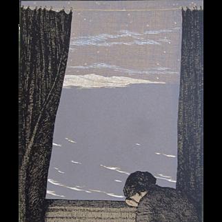 Vintage 20s German Art NOUVEAU Print Jugendstil Grief RARE And POWERFUL!