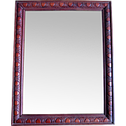 Vintage 20s French Wooden Frame TOOLED Motifs CHARACTER!