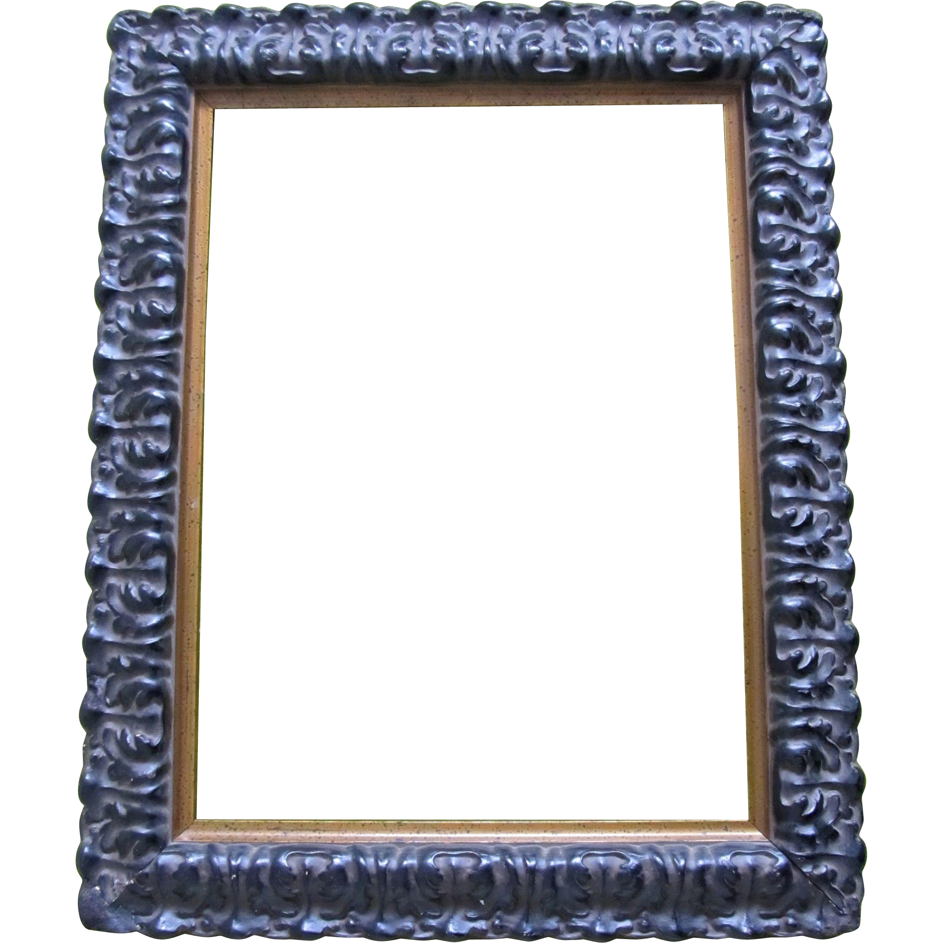 Vintage 80s Ornate Dutch Wooden Frame With Gesso SPECTACULAR!