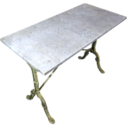 19th Century Antique French Cast Iron Bistro Table