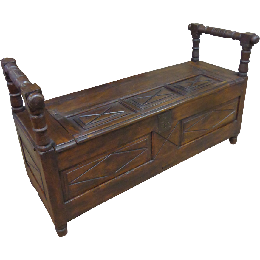18th Century French Antique Trunk Bench From Rubylane Sold On Ruby Lane