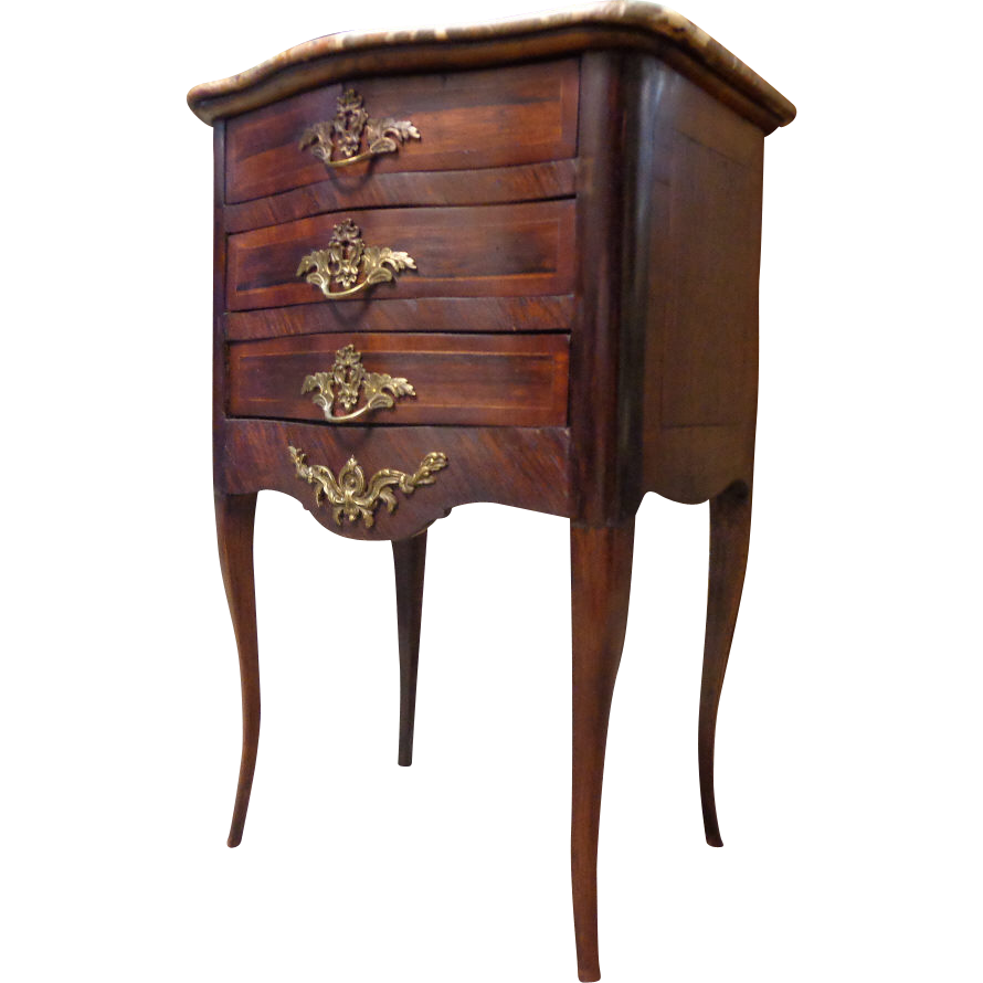 18th century french antique rosewood commode sold on ruby lane. Black Bedroom Furniture Sets. Home Design Ideas