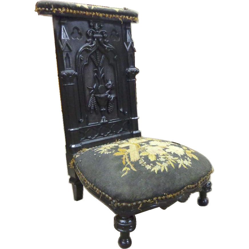 19th Century French Antique Eucharistic Prayer Chair