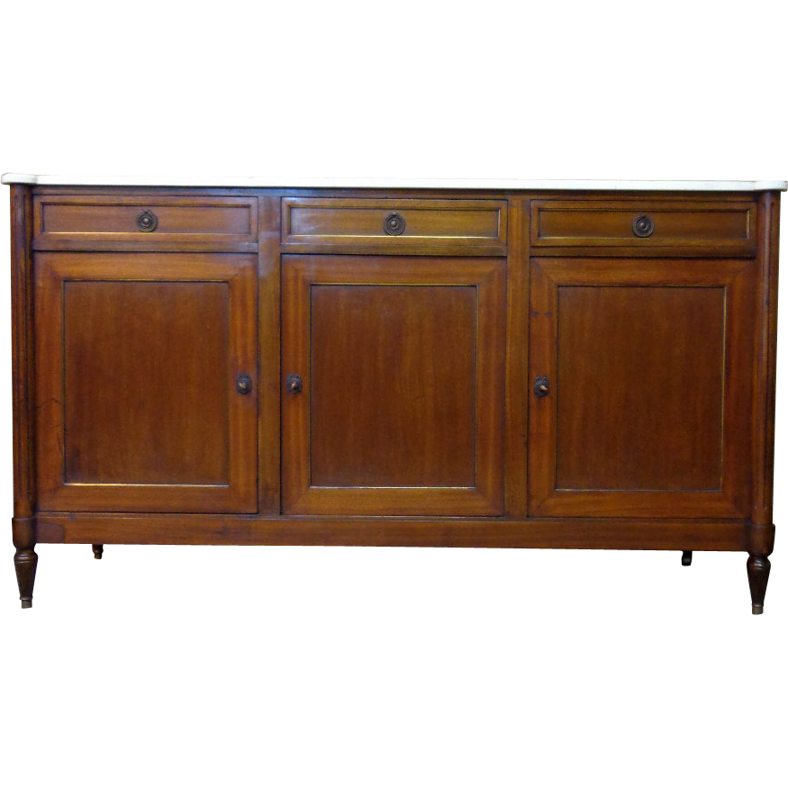 antique french louis xvi style parisian mahogany buffet. Black Bedroom Furniture Sets. Home Design Ideas