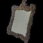 19th Century French Antique Rococo Vanity Mirror