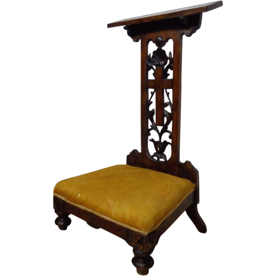 - 18th Century Antique Italian Walnut Prayer Chair SOLD Ruby Lane