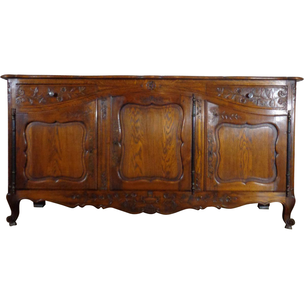19th century antique french louis xv style oak buffet enfilade sold on ruby lane. Black Bedroom Furniture Sets. Home Design Ideas