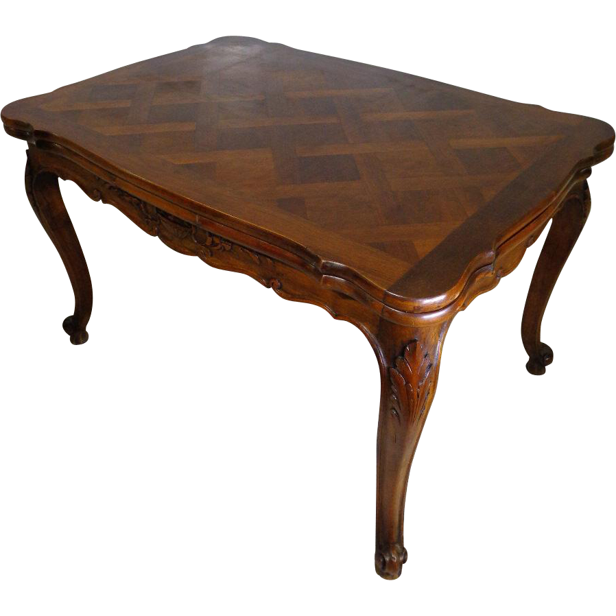 Antique French Louis XV Style Walnut Provencal Dining  : 171036NM20601L from www.rubylane.com size 898 x 898 png 415kB