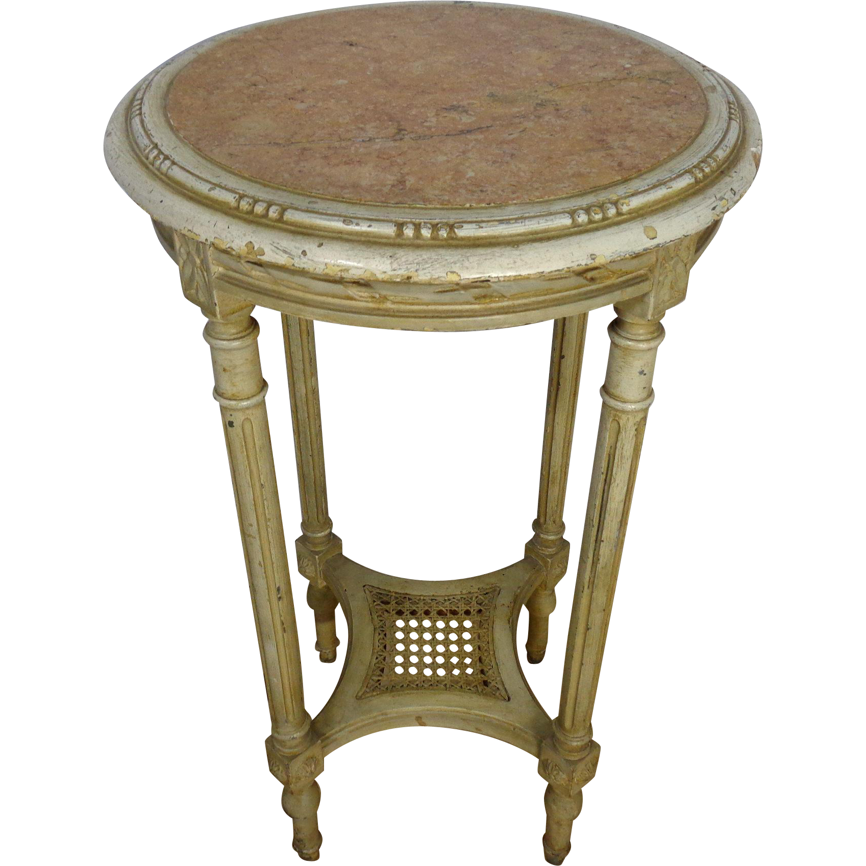 19th Century Antique French Louis XVI Style Round Side Table