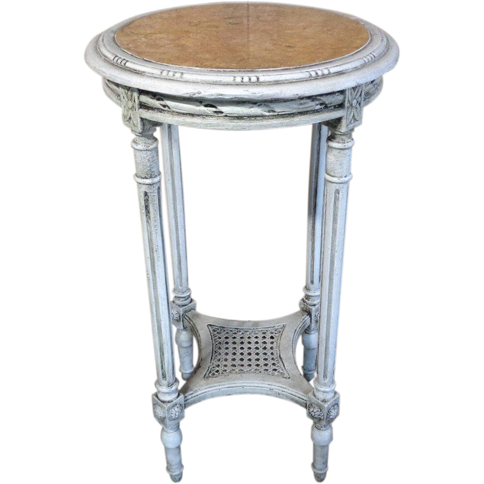 19th century antique french louis xvi style side table for Table gueridon