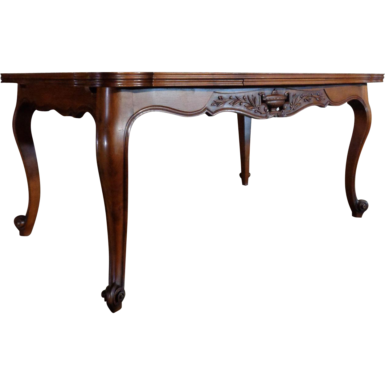 Antique country french louis xv style walnut provencal - Table louis xv ...