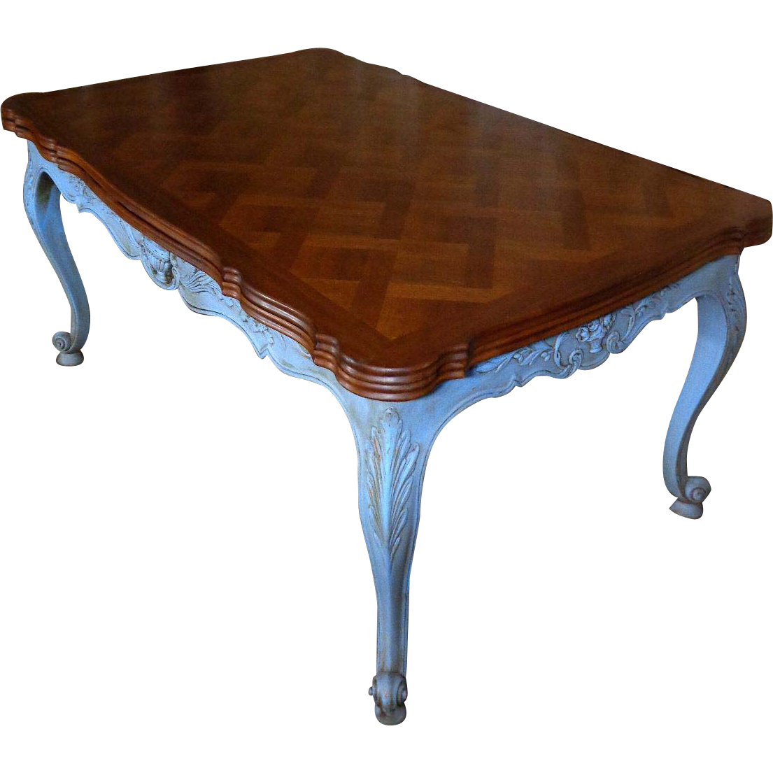 Antique country french provencal walnut dining table from nicolemaleineantiques on ruby lane - Antique french dining tables ...