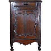 18th Century Antique French Louis XV Period Walnut Cabinet Confiturier