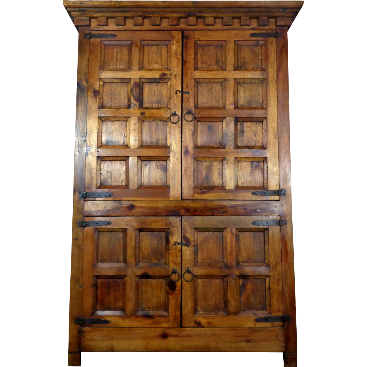 Vintage Spanish Renaissance Style Pine Cabinet from ...