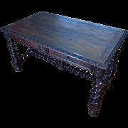 19th Century Antique French Renaissance Style Oak Desk
