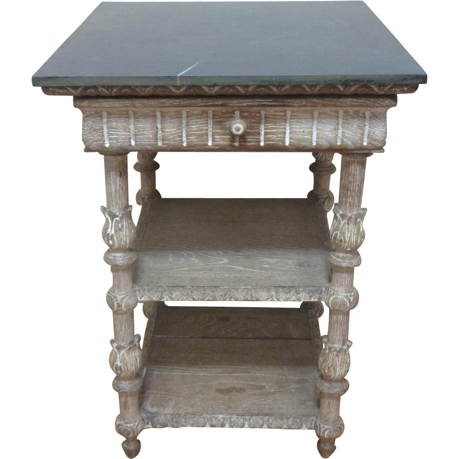 19th Century Antique French Renaissance Style Oak Side Table