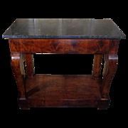 19th Century Antique French Restoration Period Mahogany Console