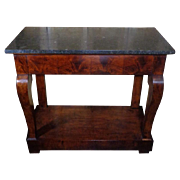 19th Century Antique French Restoration Period Mahogany Console