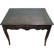 18th Century Antique Country French Louis XV Period Walnut Side Table