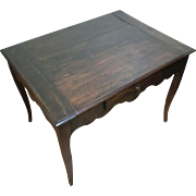 18th Century Antique French Louis XV Period Walnut Side Table